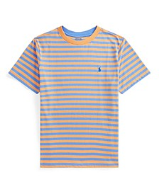 Big Boys Striped Cotton-Blend Jersey Tee