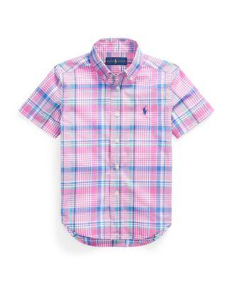 폴로 랄프로렌 Polo Ralph Lauren Toddler Boys Plaid Cotton Poplin Shirt