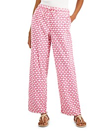Printed Linen Pants, Created for Macy's