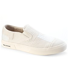 Men's Sierra Denim Patchwork Slip-On Sneakers, Created for Macy's