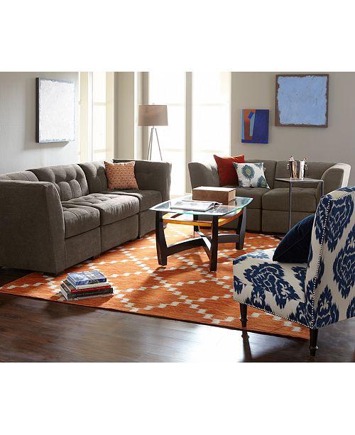 Macys Com Furniture: Furniture CLOSEOUT! Roxanne Fabric Modular Living Room