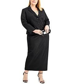 Plus Size Midi-Length Skirt Suit