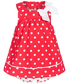Baby Girls Dot-Print Cotton Sunsuit, Created for Macy's