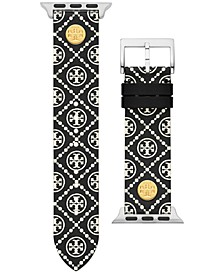 Women's Black Medallion Print Band For Apple Watch® Leather Strap 38mm/40mm