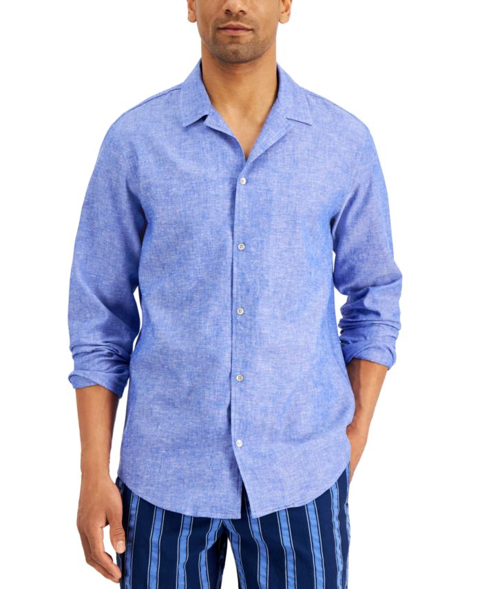 INC International Concepts INC Men's Regular-Fit Textured Camp Shirt, Created for Macy's  & Reviews - Casual Button-Down Shirts - Men - Macy's