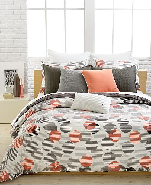 Lacoste Home Lacoste Odaiba Bedding Collection, 100% Cotton