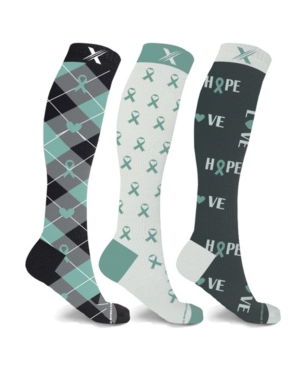 Men's and Women's Ovarian Cancer Awareness Knee High Compression Socks