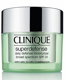 Clinique Superdefense Daily Defense Moisturizer Broad Spectrum SPF 20 Skin Types 1/2, 1.7 oz.