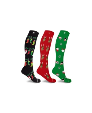 Men's and Women's Holiday Fun Knee High Compression Socks