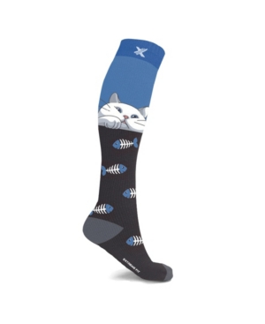 Men's and Women's Cat Lovers Knee High Compression Socks
