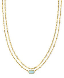 "Gold-Tone Emilie Two-Row Strand Necklace, 15-1/2"" + 3"" extender"
