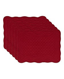 Design Import Quilted Farmhouse Placemat, Set of 6