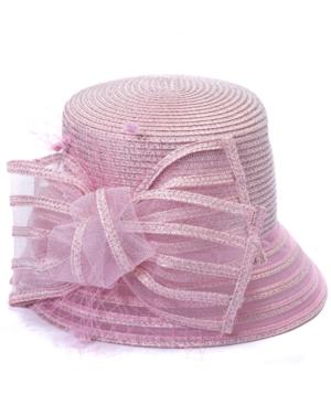 Metallic-Braid Cloche Dressy Hat