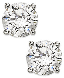 Diamond Stud Earrings (1-1/4 ct. t.w.) in 14k White Gold