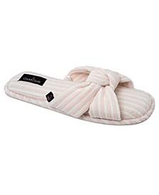 Women's Rib Velour Slide Slipper