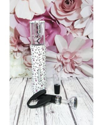 Floral Barware Set with Electric Opener, Vacuum Wine Stopper, Wine Pourer, and Foil Cutter