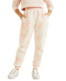 Tie-Dyed Cotton Jogging Pants