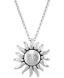 """Sunburst 18"""" Pendant Necklace in Sterling Silver, Created for Macy's"""