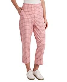 Isla Plaid Cuffed Pants, Created for Macy's