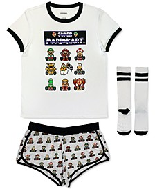 Super Mario Kart 3pc Pajama Set