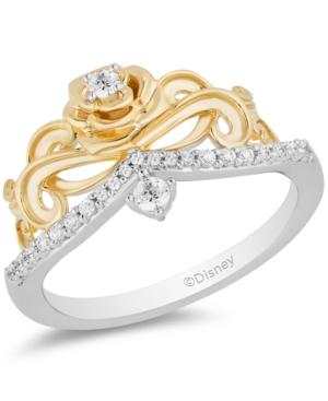 Diamond Belle 30th Anniversary Rose Tiara Ring (1/5 ct. t.w.) in 14k White Gold & 14K Yellow Gold