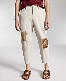 Men's Mott Regular-Fit Stretch Patchwork Cropped Chino Pants