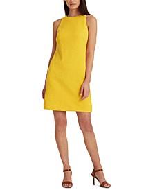 Quilted Ponté-Knit Sleeveless Dress