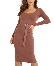 Kym Belted Sweater Dress