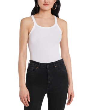 1.state RIBBED COTTON TANK TOP