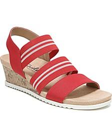 Sunshine Strappy Wedge Sandals