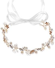 INC Gold-Tone Crystal & Imitation Pearl Wrap Headband, Created for Macy's