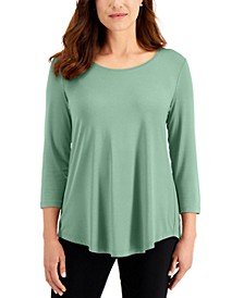 3/4-Sleeve Solid Top, Created for Macy's