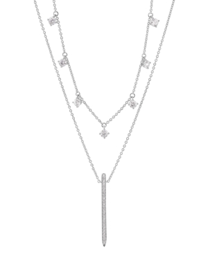 """Layered Silver Tone Necklace 16"""" + 2"""" extender"""