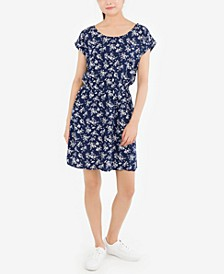 Juniors' Printed Strappy-Back Dress