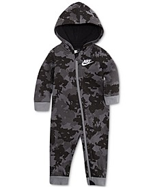 Baby Boys Club Fleece Camo-Print Cotton Coverall
