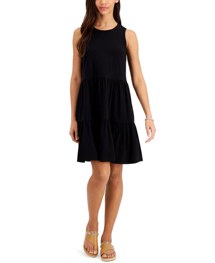 Style & Co Ruffled Sleeveless Dress, Created for Macy's & Reviews - Dresses - Women - Macy's