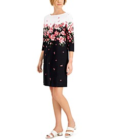 3/4-Sleeve Floral Dress, Created for Macy's