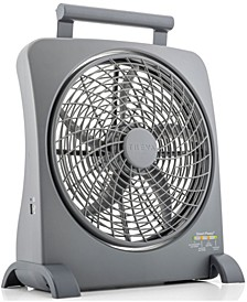 """10"""" Smartpower Portable Battery Powered or Rechargeable Fan, with Adapter"""