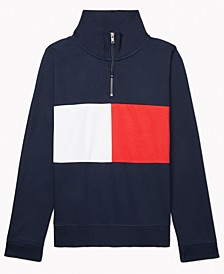 Women's Colorblocked Mock-Neck Extended Zipper-Pull Sweatshirt