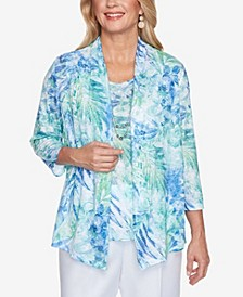 Plus Size Classics S1 Tropical Leaves Top