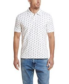 Men's Printed Terry Polo T-shirt