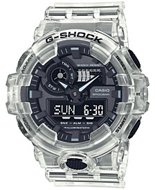 Men's Analog-Digital Clear Resin Strap Watch 53.4mm