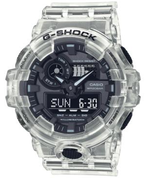 Men's Analog-Digital Clear Resin Strap Watch 53.4mm