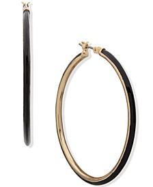 "Gold-Tone Medium Hoop Earrings, 1.75"""