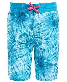 Big Boys Trippy Tie-Dye Swim Trunks