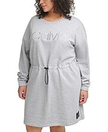 Plus Size Embroidered Logo Dress