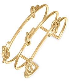 Gold-Tone Knotted Three-Row Cuff Bracelet, Created for Macy's