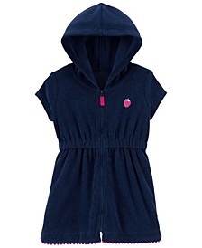Toddler Girls Strawberry Hooded Cover Up