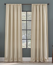 Raised Dobby Recycled Fiber Semi-Sheer Curtain Panel Collection