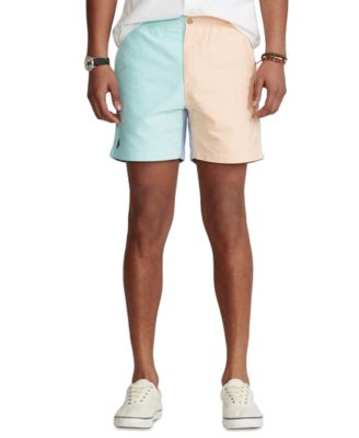 폴로 랄프로렌 Polo Ralph Lauren Mens 6-Inch Polo Prepster Color-Blocked Shorts,Solid Colorblock